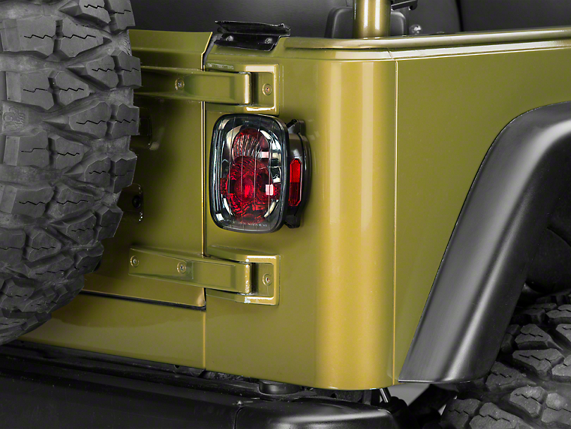 Axial Crystal Eyes Tail Lights - Platinum Smoke (87-06 Wrangler YJ, TJ)