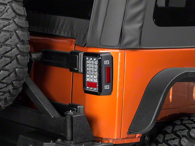 LED Tail Lights; Crystal Clear (07-18 Jeep Wrangler JK)