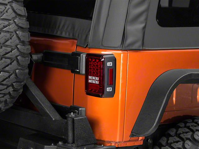 LED Tail Lights; Ruby Red (07-18 Jeep Wrangler JK)