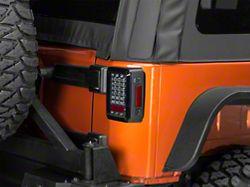 LED Tail Lights; Platinum Smoked (07-18 Jeep Wrangler JK)