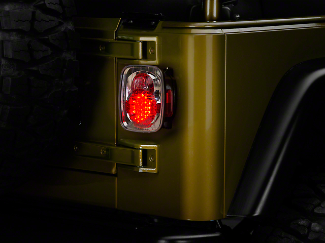 Axial LED Tail Lights - Crystal Clear (87-06 Jeep Wrangler YJ, TJ)
