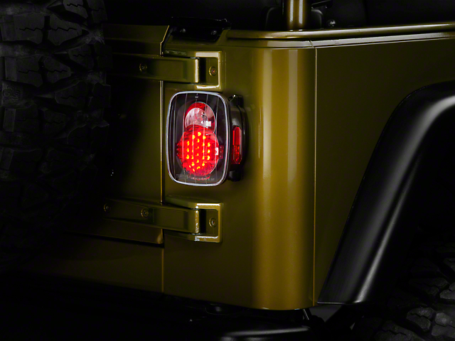 LED Tail Lights; Bermuda Black (87-06 Jeep Wrangler YJ, TJ)