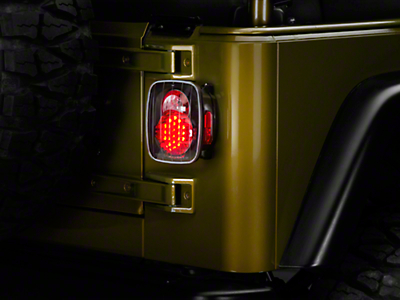 Axial LED Tail Lights - Bermuda Black (87-06 Jeep Wrangler YJ, TJ)