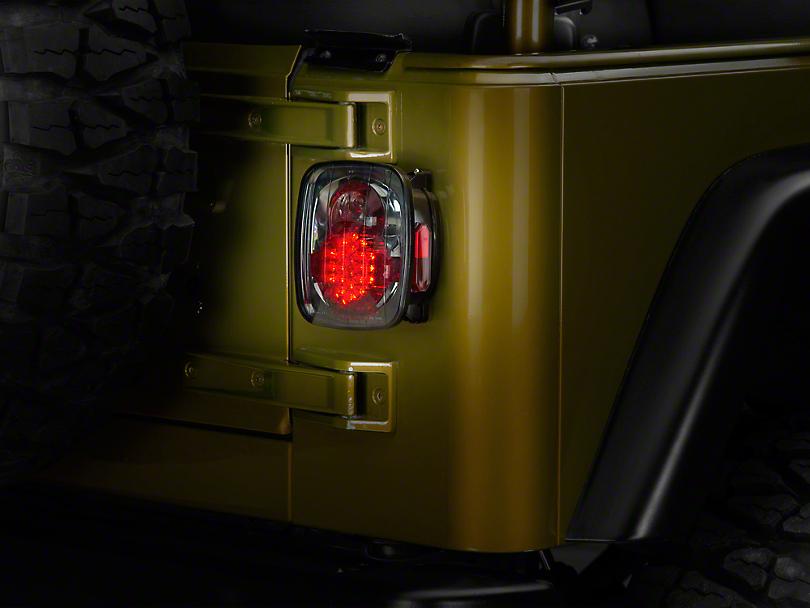 Axial Jeep Wrangler Led Tail Lights Platinum Smoke