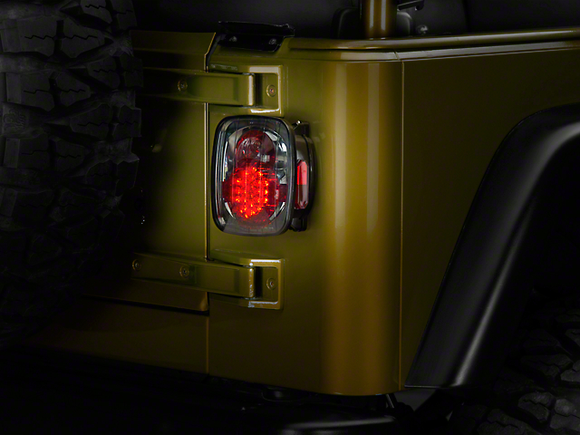 LED Tail Lights; Platinum Smoked (87-06 Jeep Wrangler YJ, TJ)