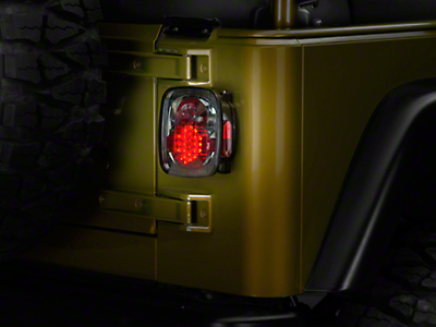 Axial LED Tail Lights - Platinum Smoke (87-06 Wrangler YJ, TJ)