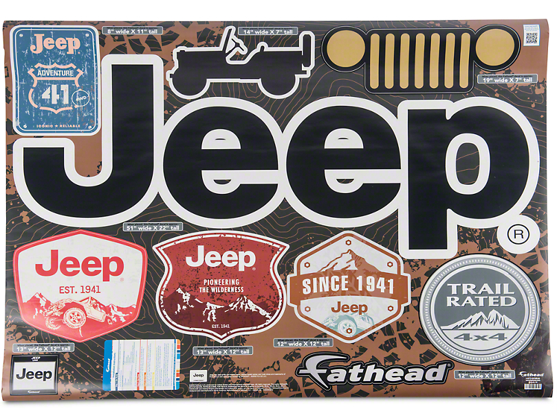 Fathead Jeep Logo Wall Decals
