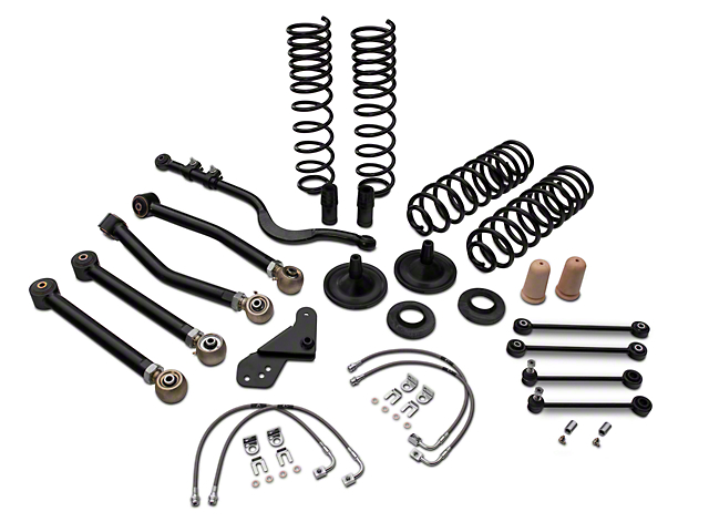 Tuff Country 4 in. EZ-Flex Lift Kit w/o Shocks (07-18 Jeep Wrangler JK 4 Door)
