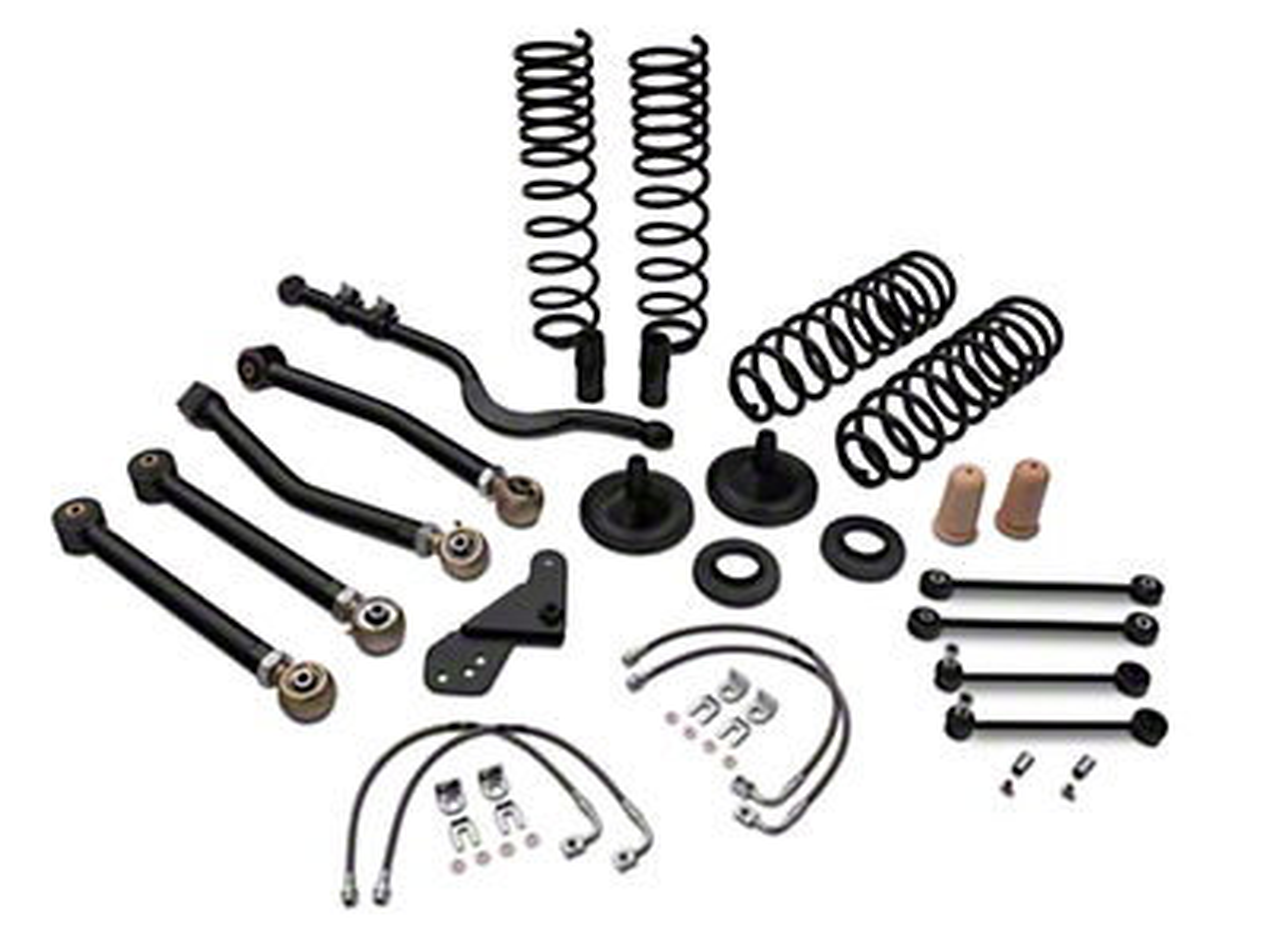 Tuff Country 4 in. EZ-Flex Lift Kit w/o Shocks (07-18 Jeep Wrangler JK 4 Door)