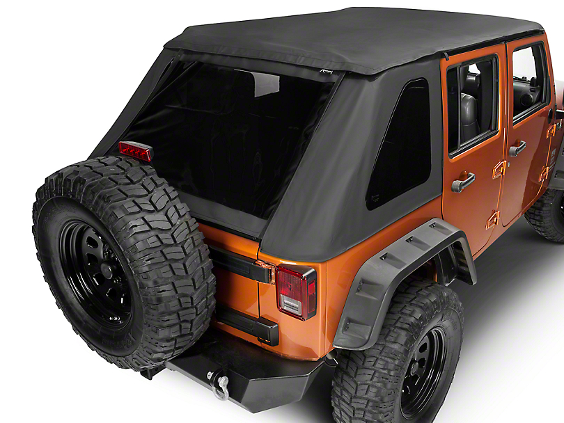 rampage wrangler frameless trailview soft top 139935 07 18 jeep wrangler jk free shipping. Black Bedroom Furniture Sets. Home Design Ideas