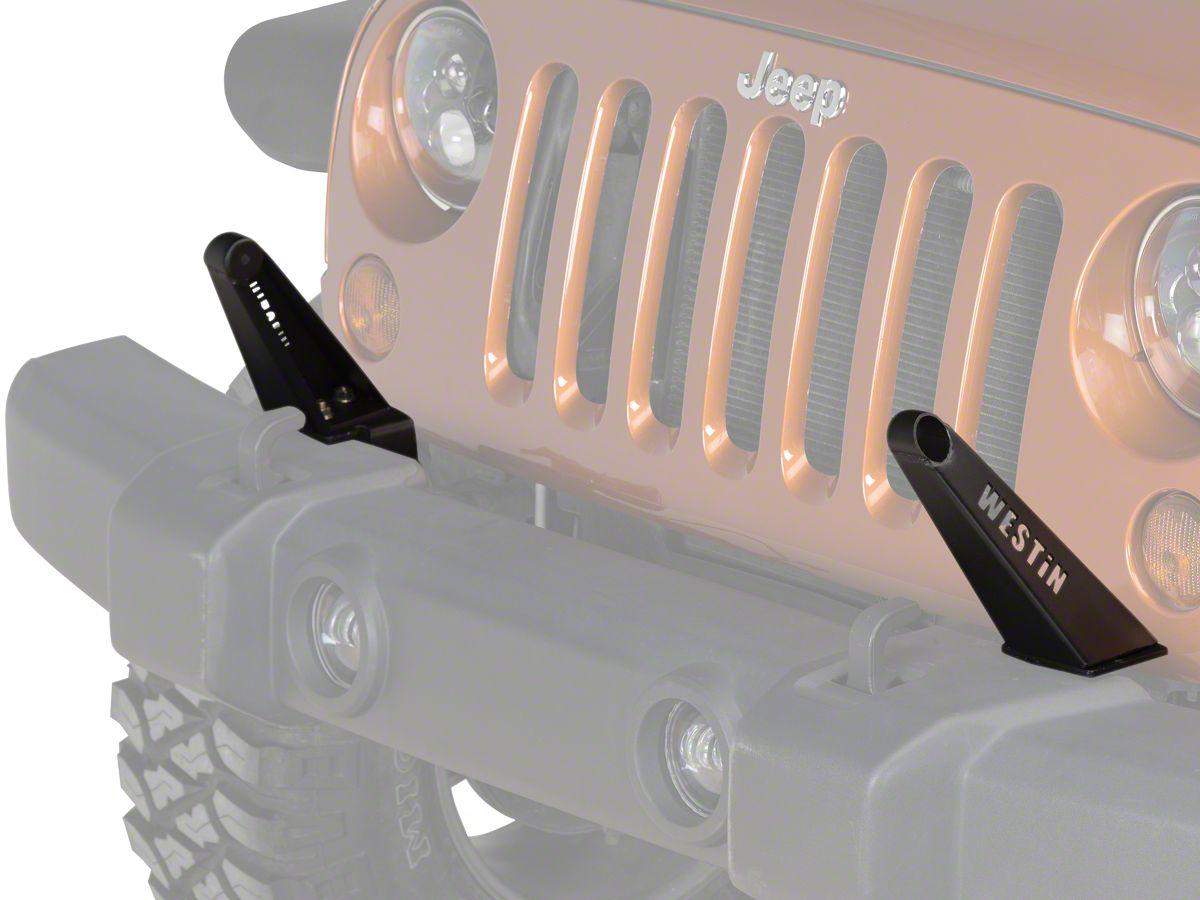 30 In Led Light Bar Front Bumper Mount Textured Black 07 18 Jeep Wrangler Jk