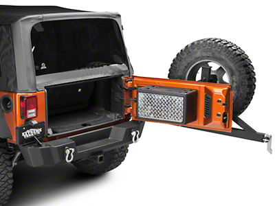 Strike Force Zebra Cargo Vault Storage Box (07-18 Wrangler JK)