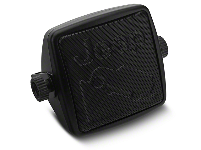 Alterum External 2-3/4 in. Speaker w/ Embossed Jeep Logos (87-18 Jeep Wrangler YJ, TJ, JK & JL)