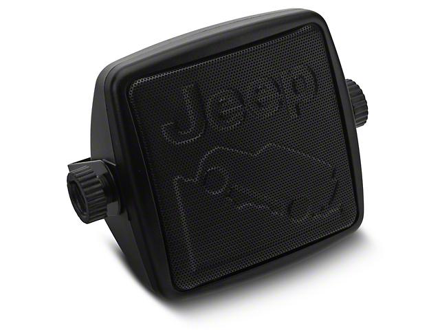 Alterum External 2-3/4-Inch Speaker with Embossed Jeep Logos (87-20 Jeep Wrangler YJ, TJ, JK & JL)