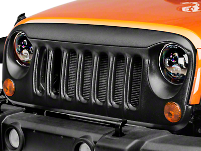 DV8 Off-Road Angry Eye Design Grille - Textured Black (07-18 Wrangler JK)