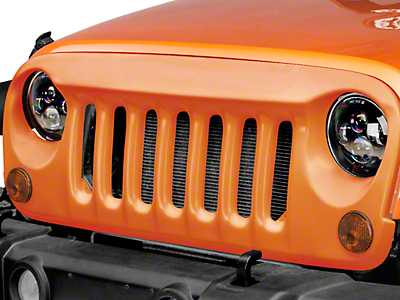 DV8 Off-Road ABS Angry Eye Style Grille - Paintable White (07-18 Wrangler JK)