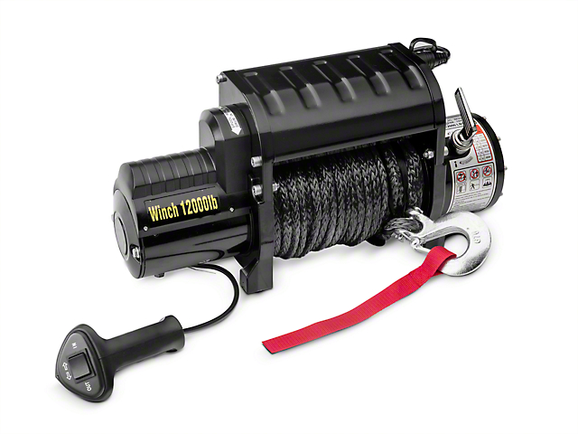 DV8 Offroad 12,000 lb. Winch with Synthetic Line and Wireless Remote