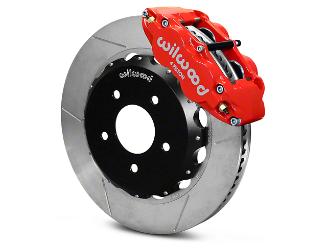 Wilwood Superlite 4R Front Big Brake Kit; Red Calipers (07-18 Jeep Wrangler JK)
