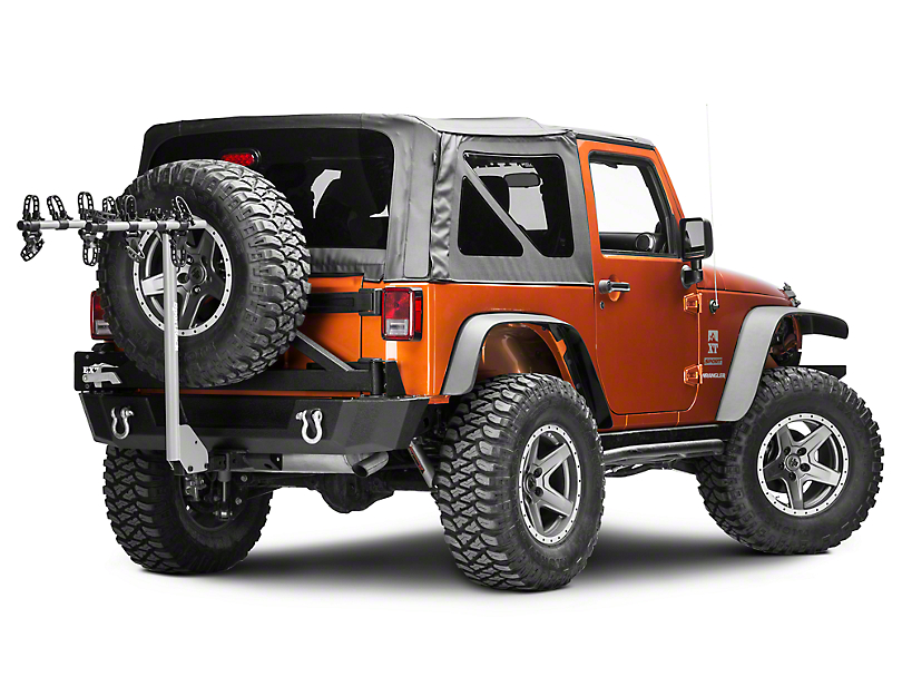 sportrack wrangler ridge hitch  bike carrier sr   jeep wrangler yj tj jk