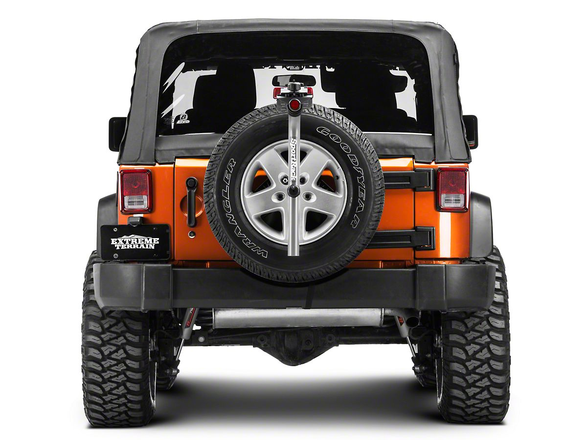 Jeep Wrangler Bike Rack >> Sportrack Pathway Spare Tire Deluxe 3 Bike Carrier 87 20 Jeep Wrangler Yj Tj Jk Jl