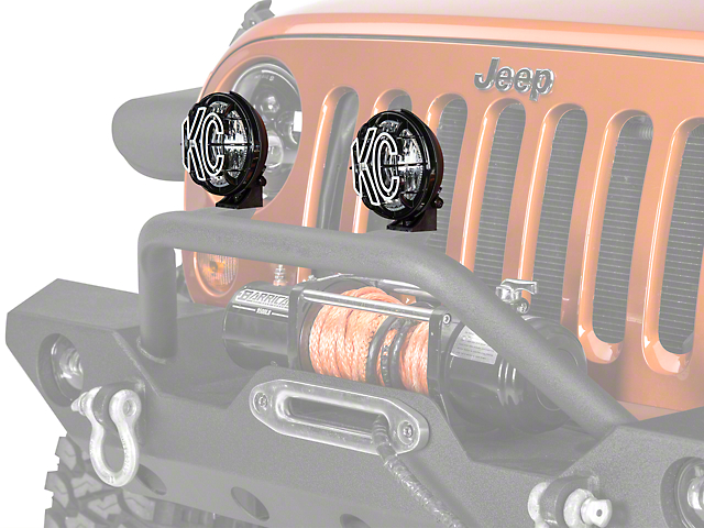 KC HiLiTES 5 in. Apollo Pro Halogen Lights - Spread Beam - Pair (87-19 Jeep Wrangler YJ, TJ, JK & JL)