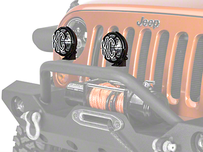 KC HiLiTES 5 in. Apollo Pro Halogen Lights - Spread Beam - Pair (87-18 Wrangler YJ, TJ, JK & JL)