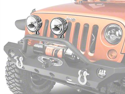 KC HiLiTES 6 in. Stainless Steel Daylighter Round Halogen Lights - Spread Beam - Pair (87-18 Wrangler YJ, TJ & JK)