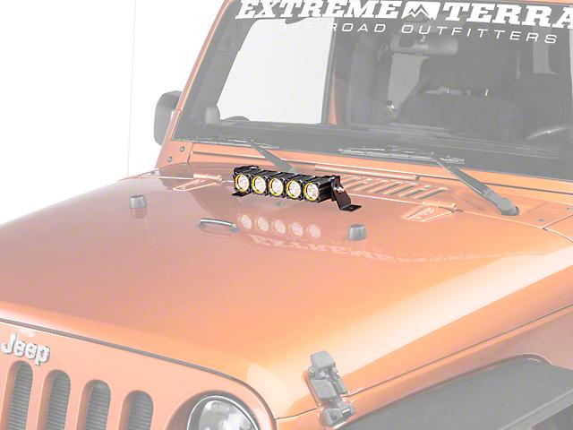 KC HiLiTES 10 Inch Flex Array LED Light Bar; Spot Beam