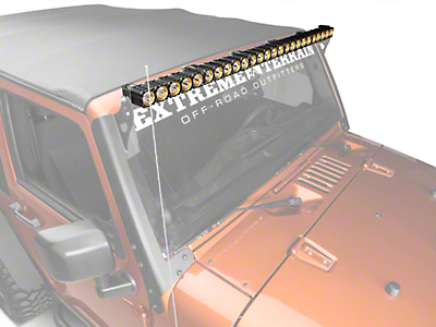 KC HiLiTES 50 in. Flex Array LED Light Bar - Spot/Spread Combo (87-18 Wrangler YJ, TJ, JK & JL)