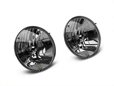 KC HiLiTES 7 in. H4 DOT Lexan 55/60-Watt Headlights - Pair (97-06 Wrangler TJ)