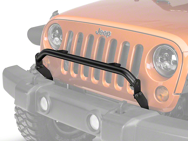 KC HiLiTES 2-Tab Bumper Mount Light Bar; Textured Black (07-18 Jeep Wrangler JK)