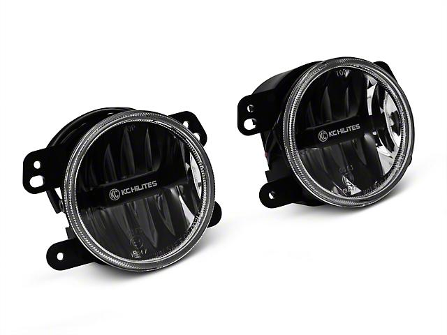 KC HiLiTES 4-Inch Gravity LED G4 Fog Lights; Clear (10-18 Jeep Wrangler JK)