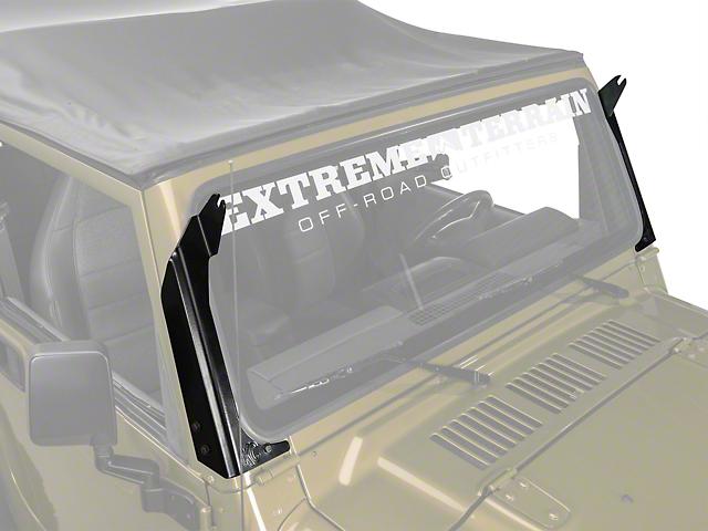 KC HiLiTES 50 Inch C-Series C50 LED Light Bar Overhead Mounting Brackets (97-06 Jeep Wrangler TJ)