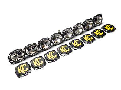 KC HiLiTES 50 in. Gravity Pro6 LED Light Bar w/ Windshield Mounting Brackets (07-18 Wrangler JK)