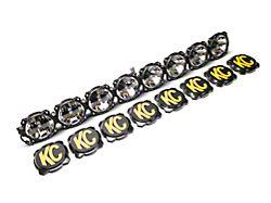 KC HiLiTES 50 in. Gravity Pro6 LED Light Bar w/ Windshield Mounting Brackets (07-18 Jeep Wrangler JK)