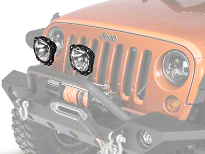 KC HiLiTES 6 in. Gravity Pro6 LED Lights - Driving Beam - Pair (87-18 Wrangler YJ, TJ, JK & JL)