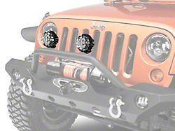 KC HiLiTES 4 in. Rally 400 Halogen Lights - Spread Beam - Pair (87-19 Jeep Wrangler YJ, TJ, JK & JL)