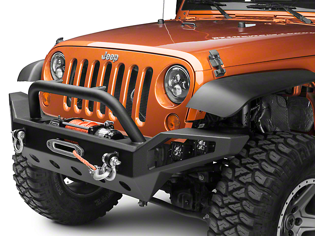 Barricade Trail Force HD Full Width Front Bumper with LED Lights (07-18 Jeep Wrangler JK)