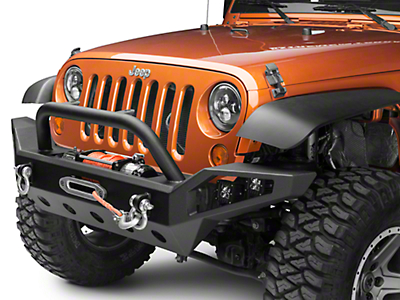 Barricade Trail Force HD Full Width Front Bumper w/ LED Lights (07-18 Wrangler JK)