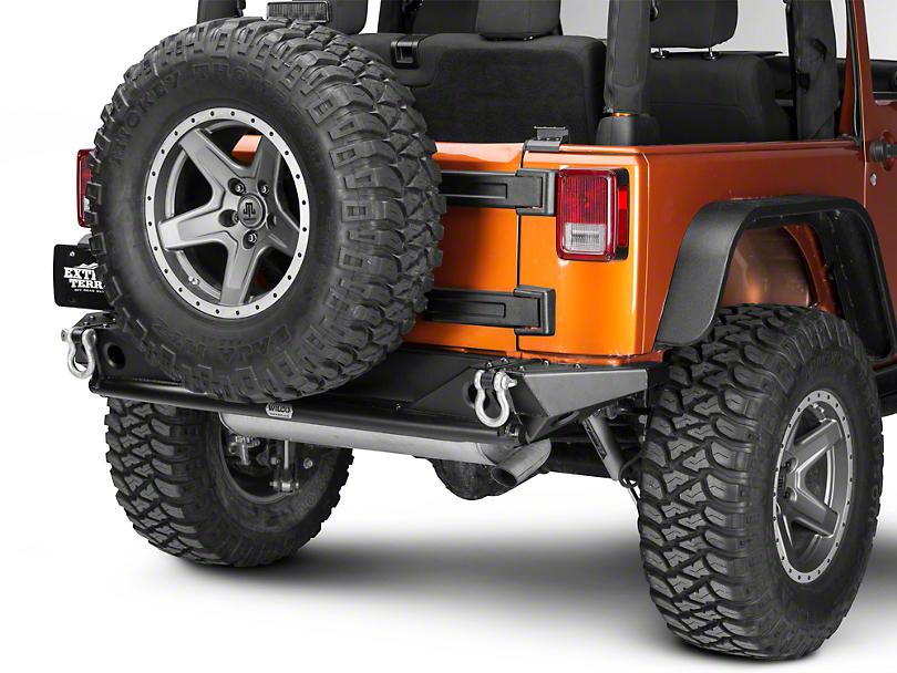 Wilco Offroad MC2X Rear Bumper w/ Black Steel Step Plates (07-18 Jeep Wrangler JK)