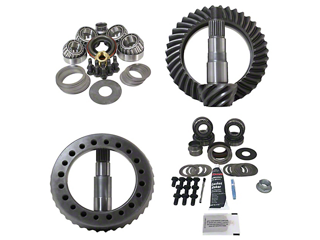 Revolution Gear & Axle Dana 30 Front Axle/44 Rear Axle Ring and Pinion Gear Kit with Master Overhaul Kit; 4.88 Gear Ratio (07-18 Jeep Wrangler JK, Excluding Rubicon)