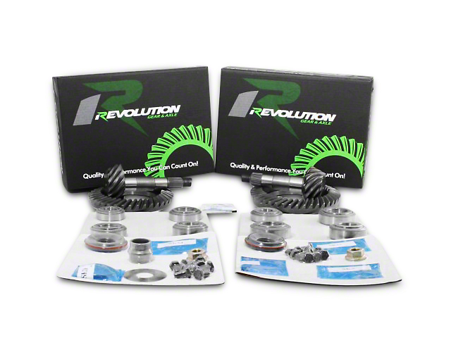 Revolution Gear & Axle Dana 44 Front Axle/44 Rear Axle Ring and Pinion Gear Kit with Master Overhaul Kit; 4.11 Gear Ratio (07-18 Jeep Wrangler JK Rubicon)