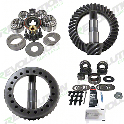 Revolution Gear & Axle Dana 44F/44R Ring Gear and Pinion Kit w/ Master Overhaul Kit - 4.56 Gears (07-18 Wrangler JK Rubicon)