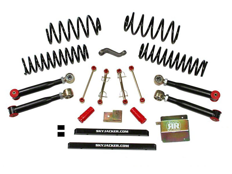 SkyJacker 4 in. Value Flex Lift Kit w/o Shocks (04-06 Jeep Wrangler TJ Unlimited)