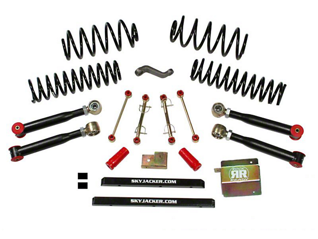SkyJacker 4-Inch Value Flex Suspension Lift Kit without Shocks (04-06 Jeep Wrangler TJ Unlimited)