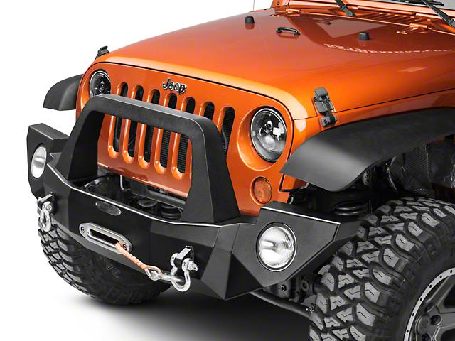 Rock-Slide Engineering Rigid Full Front Bumper with Bull Bar (07-18 Jeep Wrangler JK)
