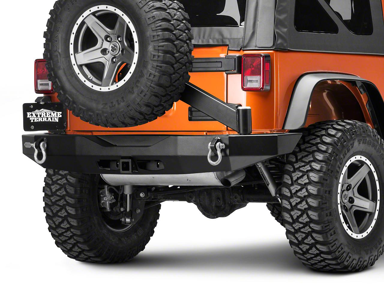 Rock-Slide Engineering Rear Bumper w/ Tire Carrier (07-18 Wrangler JK)