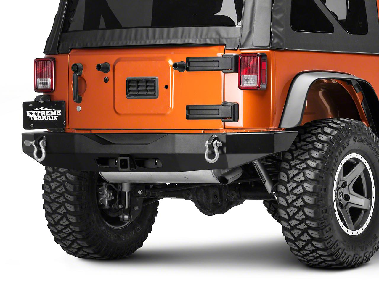 Rock-Slide Engineering Aluminum Rigid Rear Bumper w/out Tire Carrier (07-18 Wrangler JK)
