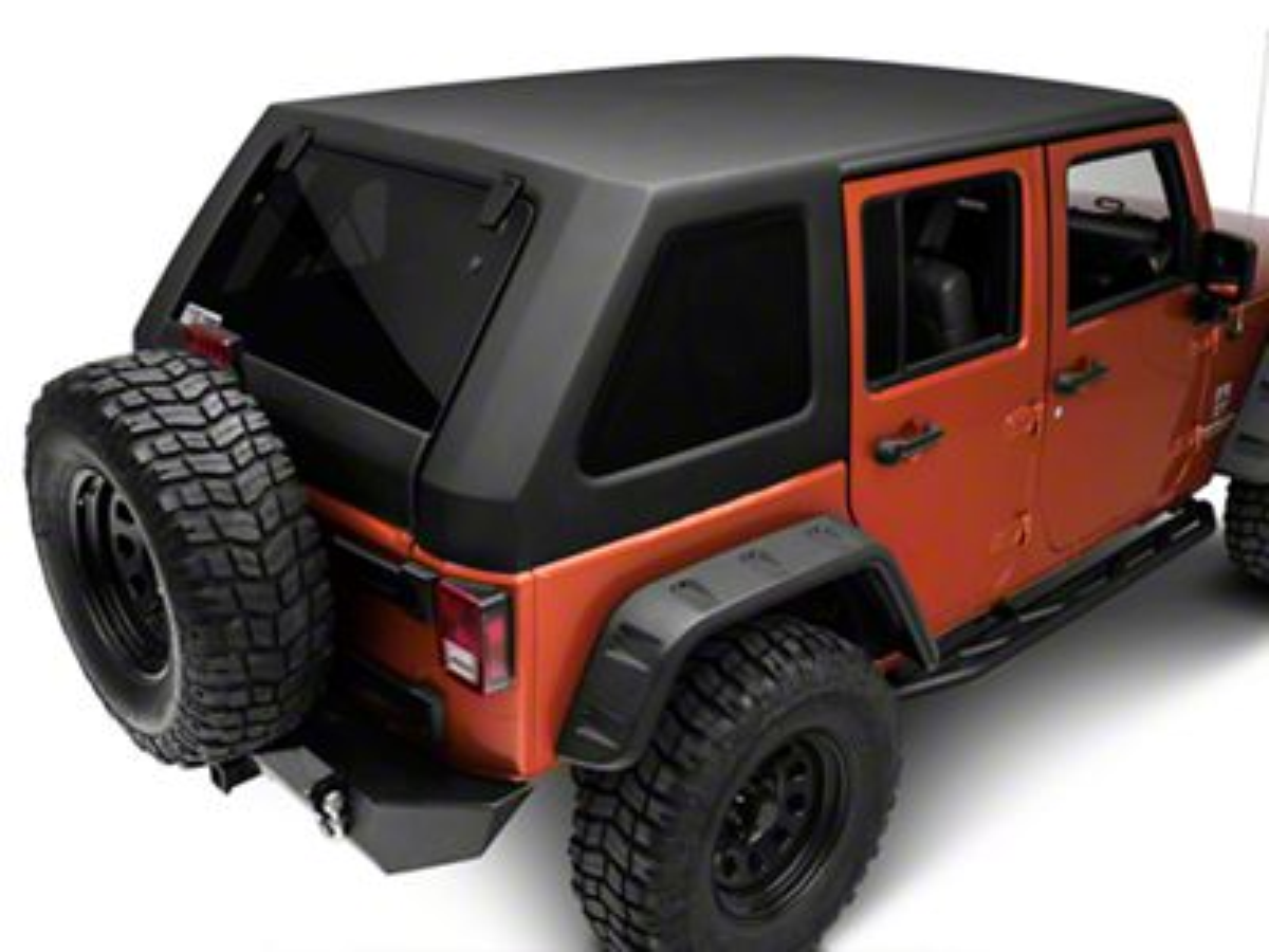Jeep Wrangler Two Piece Slant Hard Top Back 07 18 Jeep