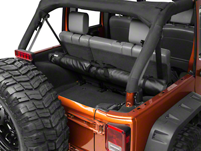 J Tops USA Tube Soft Top Window and Gear Storage - Black (97-18 Wrangler TJ, JK & JL)